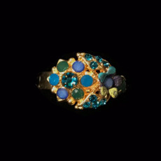Michal Negrin Caribbean Waters Flower Ring