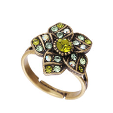 Michal Negrin Raina Crystal Adjustable Ring