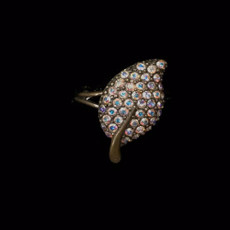 Michal Negrin Bright Leaf Adjustable Ring