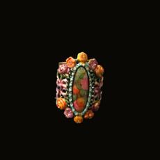 Michal Negrin Fruitful Crystal Flower Adjustable Ring