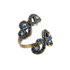 Michal Negrin Spiral Violet Ring