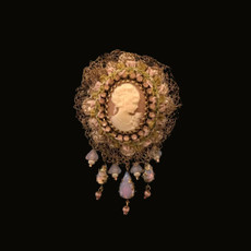 Michal Negrin Victorian Lady Brooch