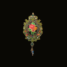 Michal Negrin Victorian Flower Bouquet Brooch