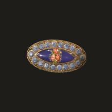 Michal Negrin Roses Cameo Brooch
