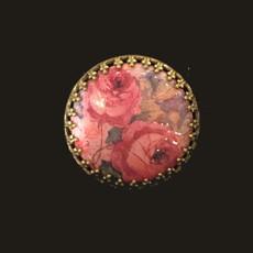 Michal Negrin Roses Cameo Circle Brooch