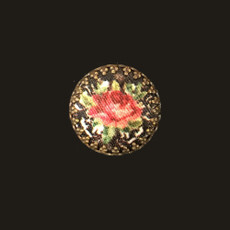 Michal Negrin Victorian Rose Cameo Circle Brooch