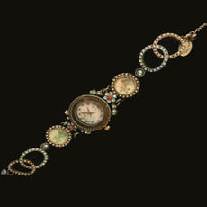Michal Negrin Cameo Victorian Jeweled Wrist Watch