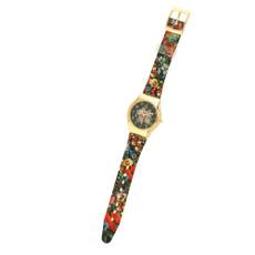 Michal Negrin Vintage Style Swarovski Crystal Hand Watch