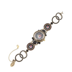 Michal Negrin Victorian Style Decorative Wrist Watch
