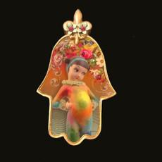 Michal Negrin She Shy Pupa  Mini Wall Hamsa