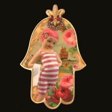 She Shy World  Mini Wall Hamsa By Michal Negrin