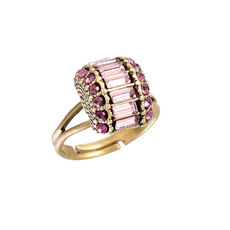 Michal Negrin Reli Crystal Adjustable Ring