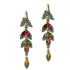 Michal Negrin Bernard French Wire Swarovski Crystals Earrings