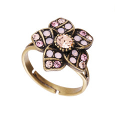 Michal Negrin Raina Peach Adjustable Ring
