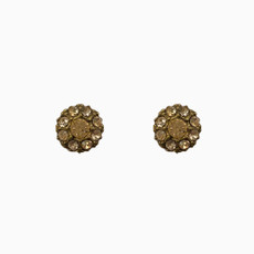 Michal Negrin Cute as a Button Soft Pink Post Earrings