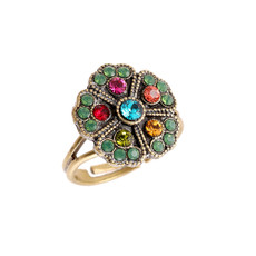 Michal Negrin Jade Multi Color Ring