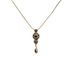 Michal Negrin Victorian Flower Power Swarovski Crystals Necklace