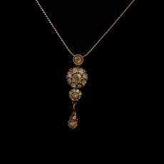 Michal Negrin Victorian Flower Crystals Necklace