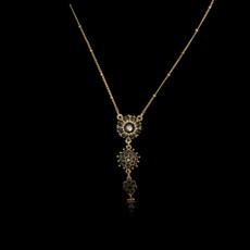 Michal Negrin Victorian Flower Swarovski Crystals Necklace