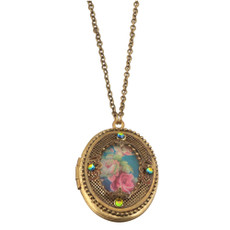 Michal Negrin Flower Locket Necklace
