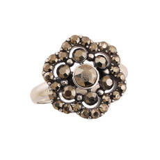 Michal Negrin Houston Flower Silver 925 Ring Size 6 inch