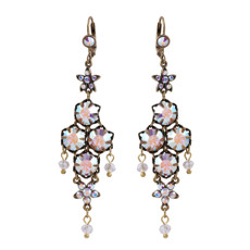 Michal Negrin Ingrid Swarovski Crystals French Wire Earrings