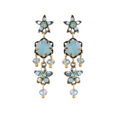 Michal Negrin Ingrid Swarovski Crystals Post Earrings