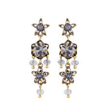 Michal Negrin Swarovski Crystals Ingrid  Post Earrings