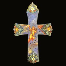 Michal Negrin Faith Swarovski crystals Wall Cross