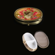 Michal Negrin Crystal Flower Women Pill Box