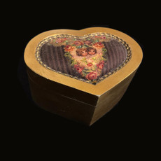Michal Negrin Antique Roses Heart Shape Jewelry Box