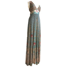 Michal Negrin Fashionable Swarovski crystals Maxi Dress Size M