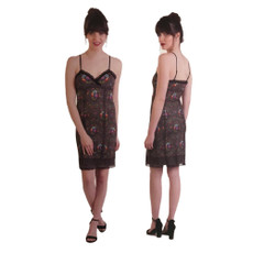 Michal Negrin Lace Mesh Mini Dress