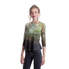 Michal Negrin Liana Printed Lycra Fabric Shirt