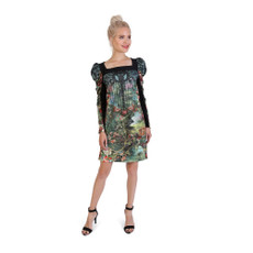 Michal Negrin Paz Printed Thick Lycra Dress