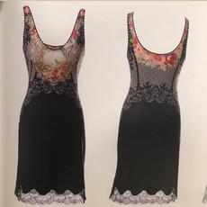Michal Negrin Poly Lycra Lace Violet Dress
