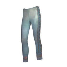 Michal Negrin Fabric Printed Lycra Size Large Leggings