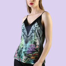 Michal Negrin Amara Printed Colorful Uniqe Tank Top