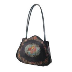 Michal Negrin Lennox Printed Velvet Handbag