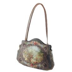 Michal Negrin Lennox Crystal Velvet Handbag