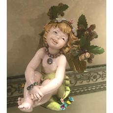 Michal Negrin Christmas Angel  Violin on a Pedestal Statue