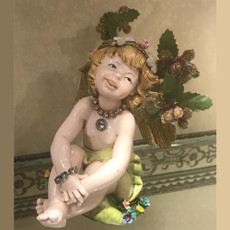 Michal Negrin Christmas Angel  Violin on a Pedestal Statue