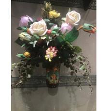 Michal Negrin La Fleur Victorian Porccelain Vase