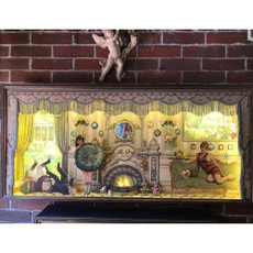 Michal NegrinLimited Edition 3D Victorian Fireplace Shadow Box