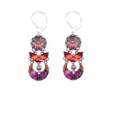 Ayala Bar Electric Ladyland Pink Lightning French Wire Earrings