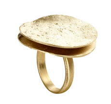 Joidart Freda Large Gold Ring Size 7