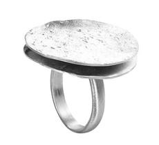Joidart Freda Large Silver Ring Size 8