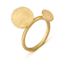 Joidart Flower Bloom Gold Ring Size 8