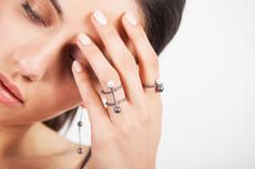 Joidart Fancy Ring Blackened Silver Size 6