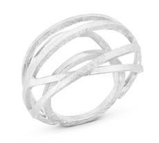 Joidart Valentina Large Silver Ring Size 7